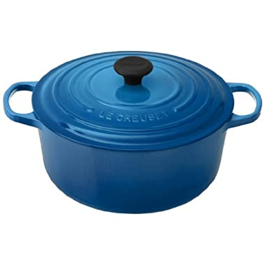 Le Creuset Signature Enameled Cast-Iron 7-1/4-Quart Round French (Dutch) Oven, Marseille