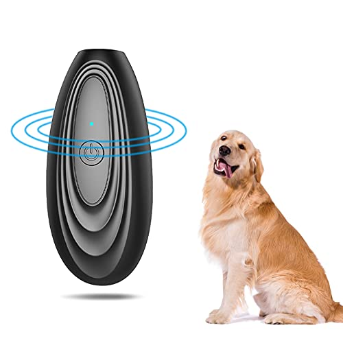 Anti Barking Gerät Ultraschall,Antibell für Hunde,Wiederaufladbarer Handheld Trainingsgerät für Hunde,Hundebellen Abschreckmittel, Sichere und Menschliche für Kleine bis Große Hunde Innen Außenbereich