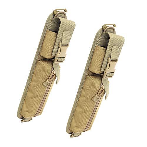 Sharplace 2Pcs Sac à Bandoulière Molle Ceinture Sacoche Outils de Chasse Durable