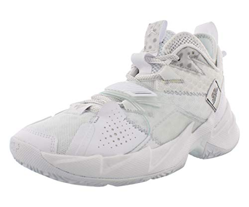 Nike Jordan Why Not Zer0.3 (GS), Sneaker, Blanco/Metallic Silver-Negro, 36 EU