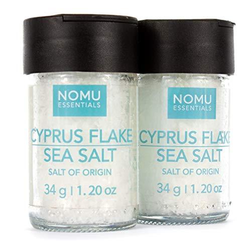 NOMU Essential Cyprus Flake Sea Salt (2.4 oz | 2-pack) | Gourmet Finishing Salt