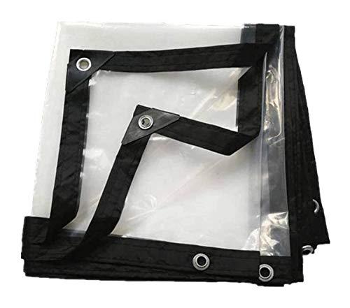 Glass Clear Tarpaulin Tarpaulin Tarpaulin Waterproof Clear Eyelets And Reinforced Edges, Heavy Duty Dustproof Rainproof Tarps For Open Storage Outdoors (Color : Clear, Size : 3x6m)