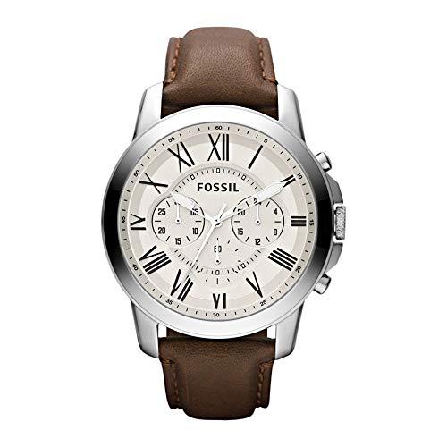 Fossil Reloj Cronógrafo para Hombre de Cuarzo con Correa en Cuero FS4735IE
