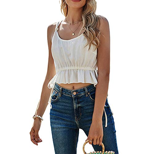Camisola sin mangas para mujer con correa de túnica sexy Y2k ropa de verano