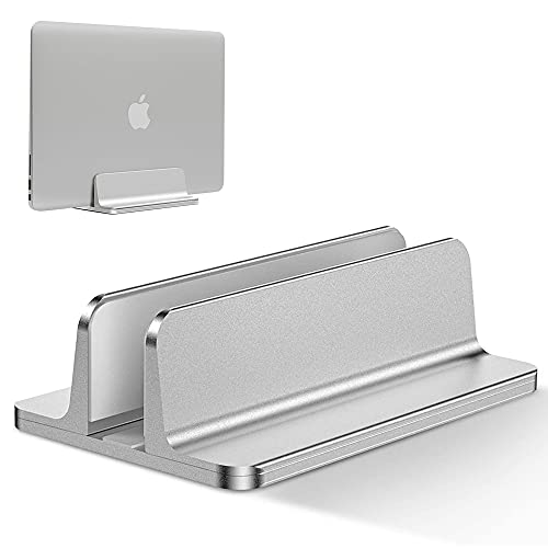 IWILCS Supporto Verticale Regolabile per Laptop, Portatile Verticale, Salvaspazio Supporto Verticale, Applica a MacBook PRO Air, iPad, HP, Surface, Notebook, Laptop Stand, Argento