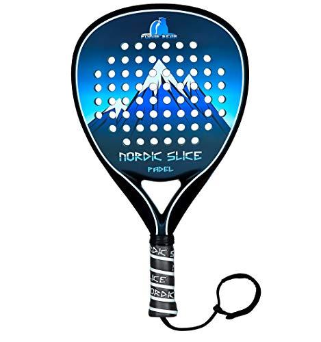 NORDIC SLICE Polar Bear 18K 2021 Carbon Fiber EVA Core Padel / POP Tennis / Paddle Tennis Racket