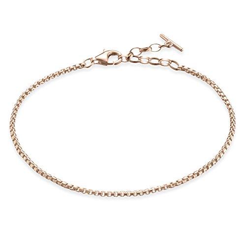Thomas Sabo Damen-Armband Glam & Soul klassisch 925 Sterling Silber 750 rosegold vergoldet Länge von 16.5 bis 19 cm A1561-415-12-L19,5v