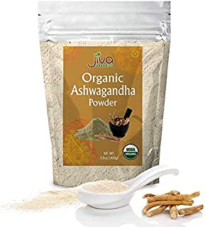 Jiva Organics Ashwagandha Powder 3.5 Ounce - Raw, Pure and USDA Organic