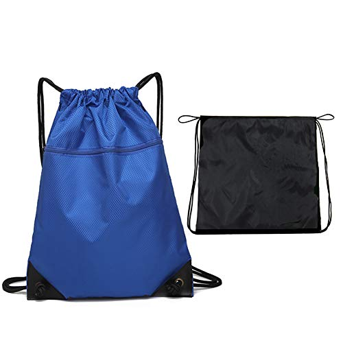 EQLEF Sac Gym Cordon Sports PE Bag avec Fermeture à glissière, Sac à Dos de Bain léger, Sac de Couchage pour Femme et Homme, pour Le Voyage et l'école