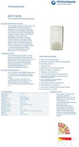 Bewegungsmelder EV1116D für Alarmzentrale GE Aritech ,VDS