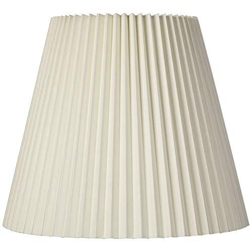 lxc Pantalla para lámpara Plisada Marfil Tradicional sin Forro con Arpa 10x17x14,75 (ara?a) - Brentwood