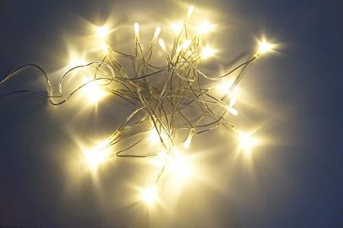 20 LED Lichterkette Kabel Strom Warmweiß Innen