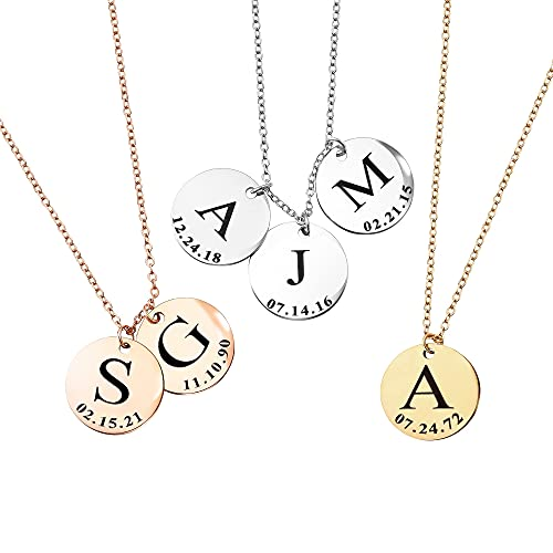 Mothers Day Gift Delicate Initial Necklace for Women Family Name Graduation Gift for Her 2021 Amazon Handmade Gift Personalized Jewelry Bridesmaid Gift Best Gift - LCN-ID-L