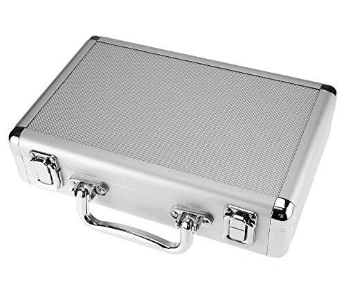 Create Idea Estuche de transporte rígido de aluminio Lagre, caja de almacenamiento para llaves, cámara, maletín de herramientas con respaldo de espuma