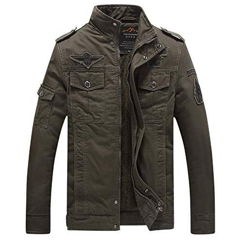 GITVIENAR Herren Jacke Winterjacke Herbstjacke Pilotenjacke/Jacke im Militär Stil US-Airforce Jacke Armeejacke für Herren und Jugendliche