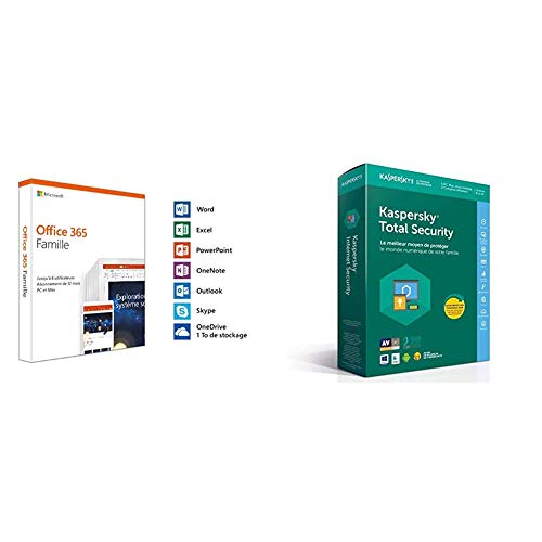 Microsoft Office 365 Famille + Kaspersky Total Security 2018 5 Appareils