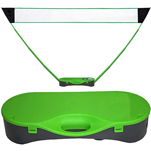 Ynredee Pop Up Badminton Set,Portable Badminton Net Set with Carry Box,Height Adjustable Volleyball...