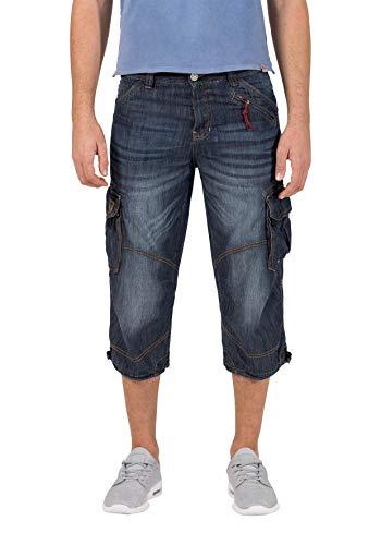 Timezone Herren Loose MilesTZ Shorts, Blau (Indigo Vintage Wash 3349), W36 (Herstellergröße: 36)