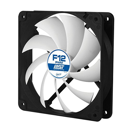 ARCTIC F12 PWM PST - 120 mm PWM PST Case Fan with PWM Sharing Technology (PST), Very quiet motor, Computer, Fan Speed: 230-1350 RPM - Black/White