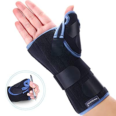 Velpeau Wrist Brace with Thumb Spica Splint for De Quervain's Tenosynovitis, Carpal Tunnel Pain, Stabilizer for Tendonitis, Arthritis, Sprains & Fracture Forearm Support Cast (Regular, Right Hand-S)