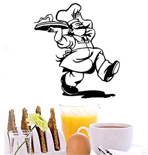 Pegatinas de pared para hornear pegatinas de decoración de cocina calcomanías de pintura para hornear pegatinas de servicio de restaurante utensilios de cocina 63 * 57C m
