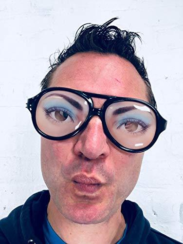 Rubber Johnnies , Gafas de ojo loco femenino, especificaciones divertidas, gafas de broma, talla nica