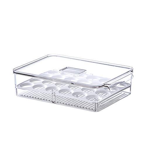 YUMEIGE Kosmetische Aufbewahrungsbox Dumpling-Aufbewahrungsbox, mehrschichtiges Ei-Frischhäuser, Lebensmittel versiegelt Knödel Wonton-Küche, Gemüse-Frischhalftungskasten, Stapeldesign