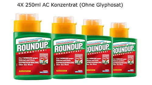 Roundup 4X 250ml AC Konzentrat (Ohne Glyphosat)