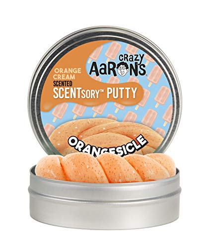 Crazy Aaron's Thinking Putty - Scentsory Treat: Orangesicle - Fidget Toy for All Ages - Stretch, Play and Create -  Orange Cream Scented Putty That Never Dries Out - 2.75' Storage Tin - .8 oz.
