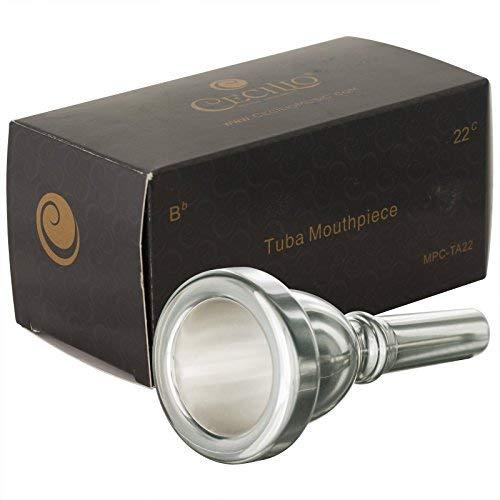 Cecilio Standard Tuba Mouthpiece, Silver Plated, Size 22