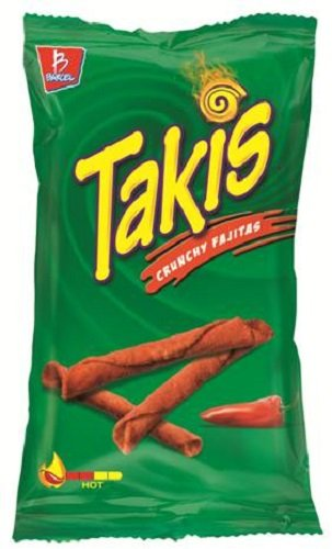 Barcel, Takis, Crunchy Fajita, Rolled Tortilla Snacks, 9.9oz Bag (Pack of 3)