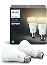 Philips Hue White Ambiance 2-Pack A19 60W Equivalent Dimmable LED Smart Light Bulbs, 2 Smart Bulbs, Works with Alexa, Apple Homekit, and Google Assistant, (All US Residents)