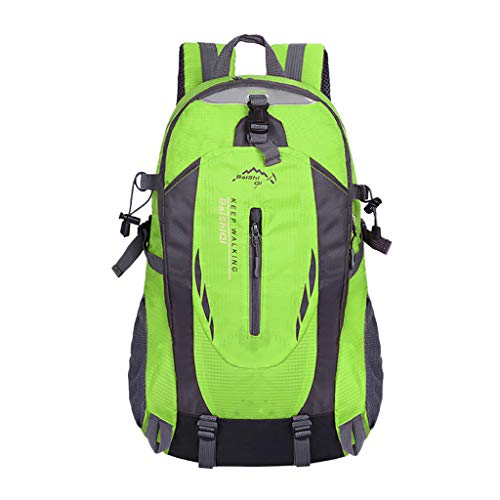 Haluoo Outdoor Sport Bacpack, Lightweight Durable Large Capacity Cycling Hiking Backpack Water Resistant Travel Rucksack Camping Mountaineering Climbing Dayback for Women Men Couples 60L (Green)