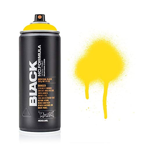 Montana BLACK Sprühdose CAN, 400 ml Power Yellow