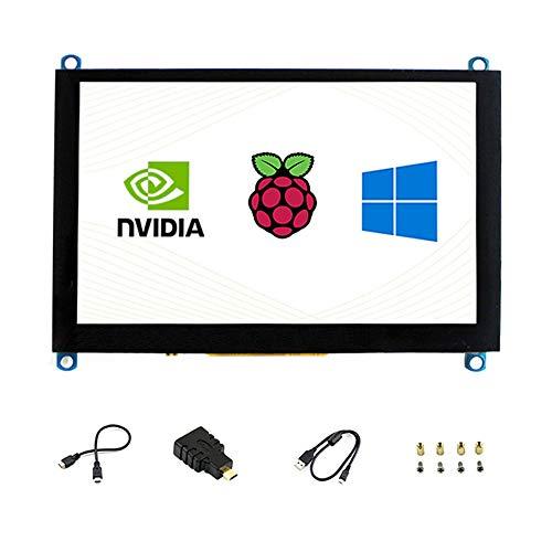 5 Zoll H Touchscreen HDMI LCD 800 * 480 Kapazitive Unterstützung Jetson Nano/Raspberry Pi 4 / Verschiedene Systeme/Multi Mini-PCs/BB Schwarz/Banana Pi/Desktop-Computer