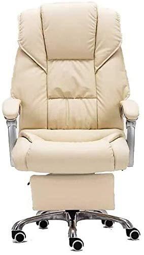 G.S.N. GSN Executive Recline Drehstuhl kann Down-Lie, ergonomische Büro Boss PU Stuhl Haushalt Drehen Aufstieg Tropfen Stuhl Armlehne Sitzrückenlehne Stuhl Gepolsterter Bürostuhl Sessel