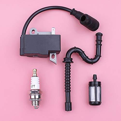 HAOHAO Bobina de Encendido de Chispa Filtro de Combustible Plug Kit línea de Manguera Compatible with Stihl MS270 MS280 MS 270 280 Motosierra reemplazo del Recambio