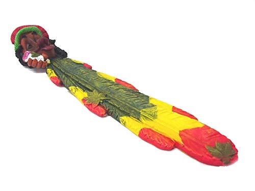 Soporte Quemador Incienso Resina Marihuana Cannabis Hierba Reggae Jamaica AMARIILO Rojo Verde
