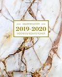2019-2020 Akademischer Wochen- und Monatsplaner Marble Gold: Terminkalender Organizer, Studienplaner und Notizbuch mit inspirierenden Zitaten  August ... Juli 2020 (Planer Organizer, Band 5) - Planer Ink