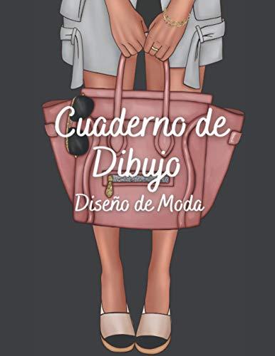 Cuaderno de Dibujo Diseño de Moda: 360 Figuras plantilla de maniquíes para diseñar y dibujar ropa, idea de regalo para adultos y adolescentes, diseñadores de moda y estilistas