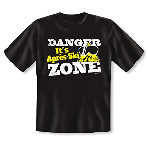 Cooles Apres Ski Party Shirt - Danger it´s Apres Ski Zone! Für Ski und Snowboard!