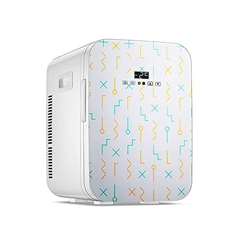 QPMY Refrigerador Pequeño, Mini Refrigerador De 7 Pies Cúbicos, Gran Capacidad, Doble Energía De Frío Y Calor, Panel De Vidrio, Silencioso Y Ahorrador De Energía,Digital Display