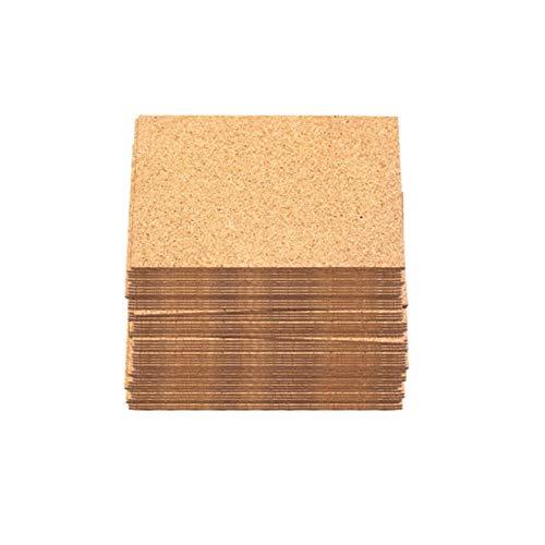 LUOSI 50 Stücke Pad Wiederverwendbares Trinken DIY Tisch Dekor Küche Isolierung Handwerk Quadrate Runde Selbstklebende Korkunterweg Cup Matte Mini Board (Color : 6)