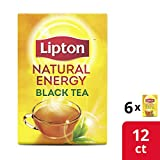 Lipton K-Cups for Keurig Brewers Natural Energy Black Tea 100% Rainforest Alliance Certified 12...