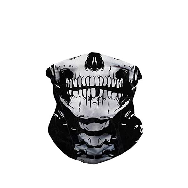 iHeartRaves Seamless Face Cover Mouth Mask Scarf Bandanas Neck Gaiter – Dust & UV Sun-Protection for Festivals and Outdoors