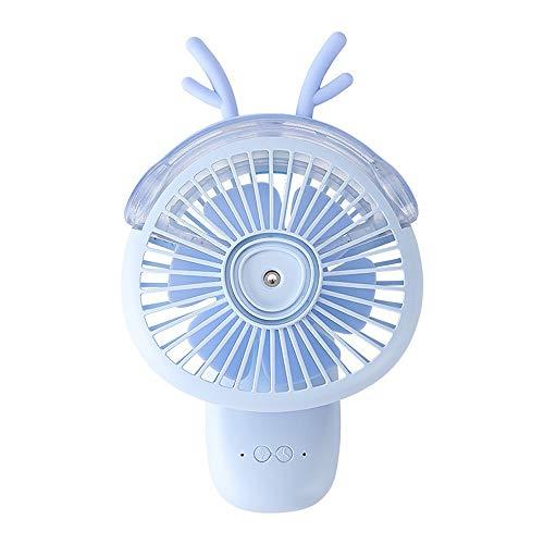 Fuudear Ventilador de estudiante con rociador pequeño ventilador portátil USB recargable mini cama silencioso ventilador estudiante oficina dormitorio dormitorio fuera jugar mini ventilador