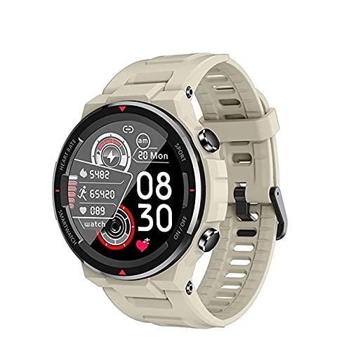 ZGZYL Reloj De Reloj Inteligente De Los Hombres Q70C con La Presión Arterial Y El Reloj del Monitor del Corazón STOPETWATCK SPORTWATCH Sports WATRES para iOS Android Smart Watch,C