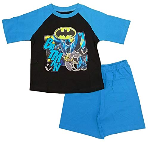 Kurzer Schlafanzug für Jungen mit Batman-Motiv, DC Comics Gr. 104, Batman – kurz