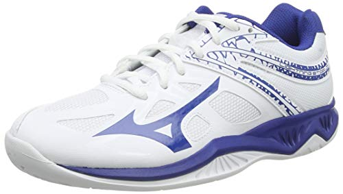 Mizuno Unisex-Kinder Lightning Star Z5 Jr Volleyballschuhe, Weiß (Wht/Trueblue 21), 38 EU