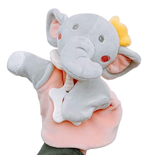 Inchant Suave Manta de Elefante de Juguete para bebé, Manta cómoda con mordedor, Suave Manta de Seguridad, marioneta de Mano para bebé, Suave edredón de Juguete, Regalo para niño o niña